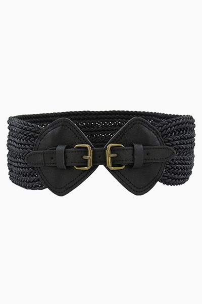 WIDE WOVEN CORSET BELT - orangeshine.com