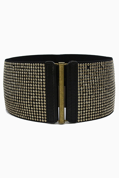 TINY STUD WIDE ELASTIC BELT - orangeshine.com