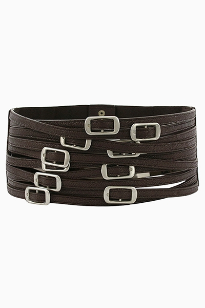 MULTI BUCKLE WIDE BELT - orangeshine.com