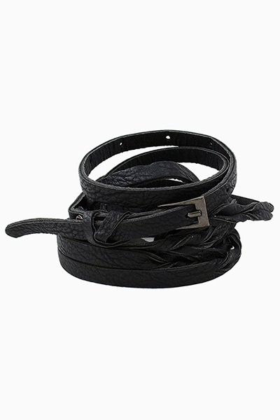 SKINNY MULTI WAIST WRAP BELT - orangeshine.com