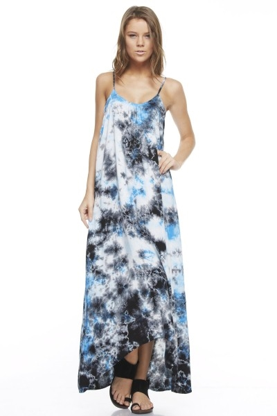 SPAGHETTI STRAP TIE DYE DRESS - orangeshine.com