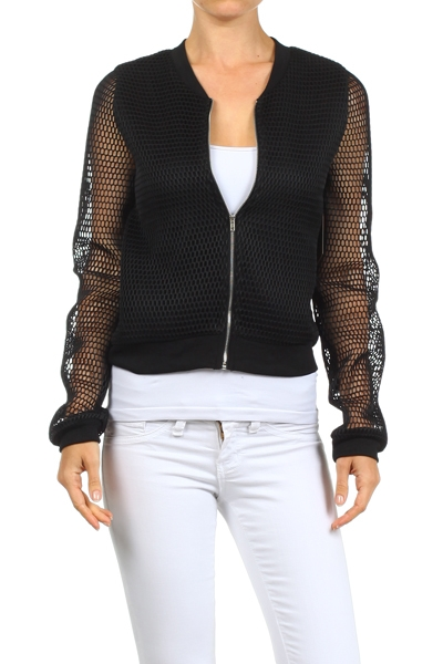 Netting Bomber Jacket - orangeshine.com