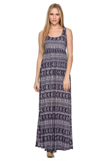 SLEEVELESS TOP MAXI DRESS - orangeshine.com