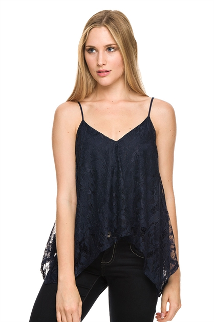 VNECK CAMI LACE TOP - orangeshine.com