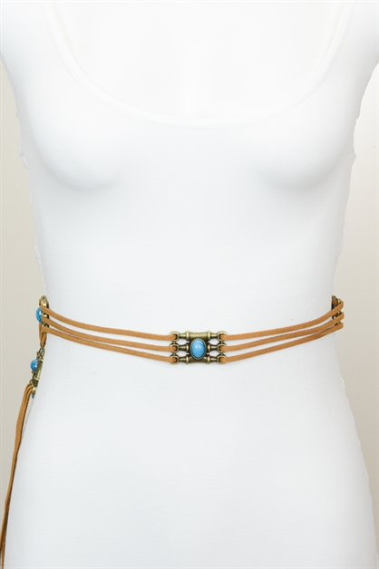 BOHEMIAN THREE ROPE SUEDE BELT - orangeshine.com