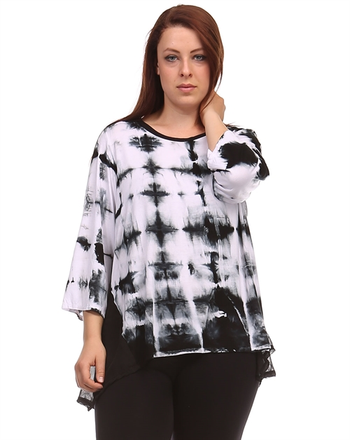 Diamond Tie-Dye Tunic - orangeshine.com