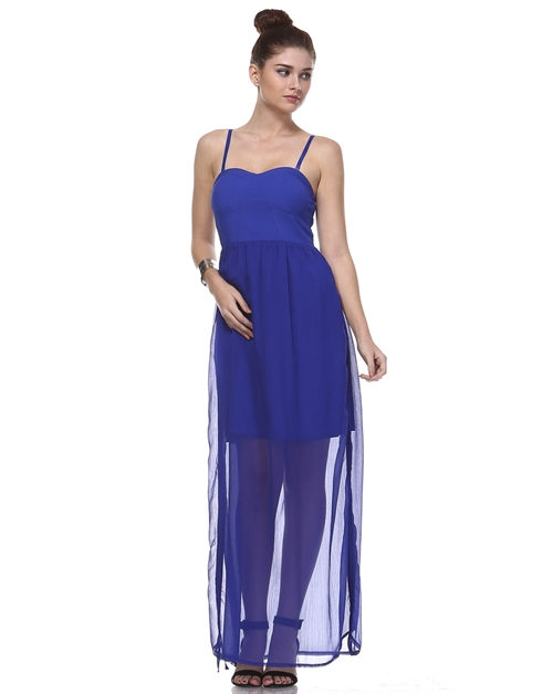 ADJUSTABLE LINED MAXI DRESS - orangeshine.com