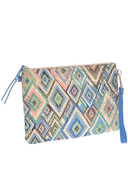 MULTI COLOR PATTERN CLUTCH - orangeshine.com