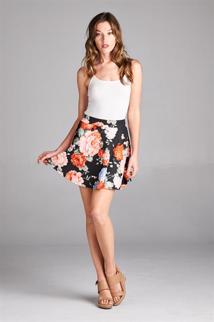 FLORAL CIRCLE SKIRT - orangeshine.com