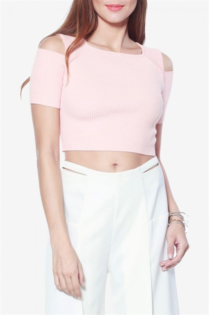 Shoulder Cutout Top - orangeshine.com