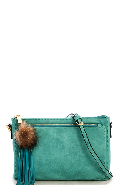 Princess Pompom Clutch - orangeshine.com