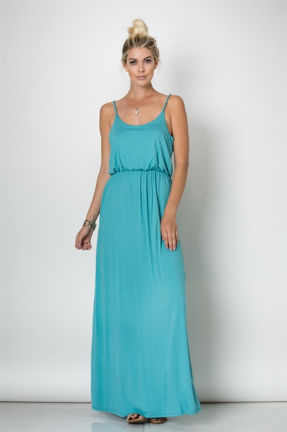 SPAGHETTI STRAP MAXI DRESS - orangeshine.com