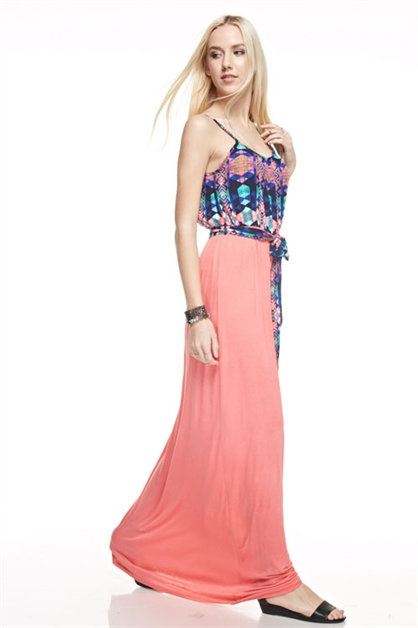 Rayon/Span Maxi Dress - orangeshine.com