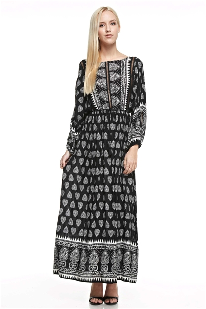 Print Maxi Dress - orangeshine.com