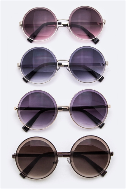 Fashion Retro Round Sunglasses - orangeshine.com