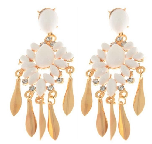 White Gold Earring - orangeshine.com