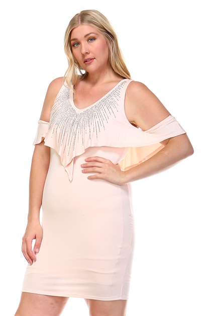 DOUBLE LAYER CAPLET DRESS - orangeshine.com