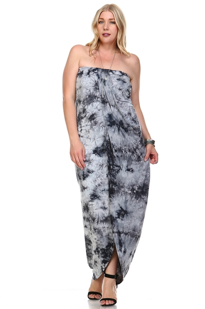 TYE DYE TUBE MAXI DRESS - orangeshine.com