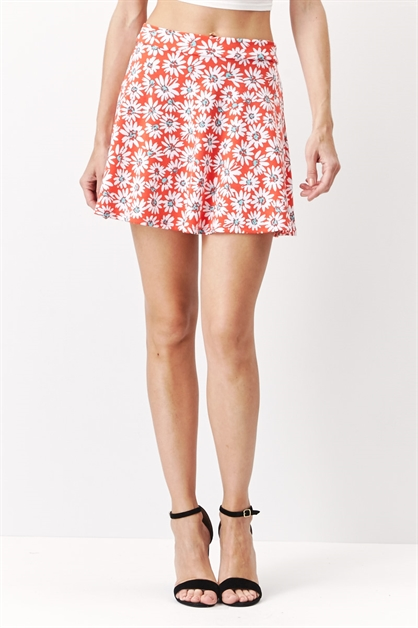 Ponte Skater Skirt MultiPrint - orangeshine.com