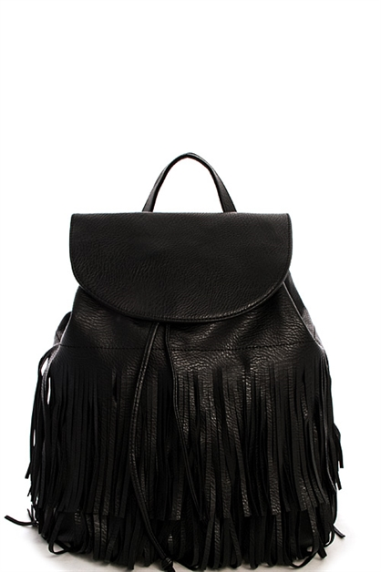 Designer Chic Fringe Backpack - orangeshine.com