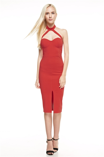 ADELINE MIDI DRESS - orangeshine.com