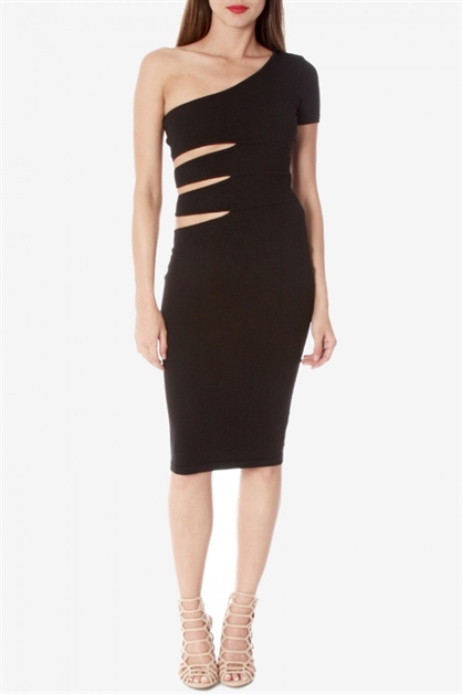 Side Cutout Dress - orangeshine.com