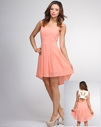 HI-LOW UNIQUE BACK DRESS - orangeshine.com