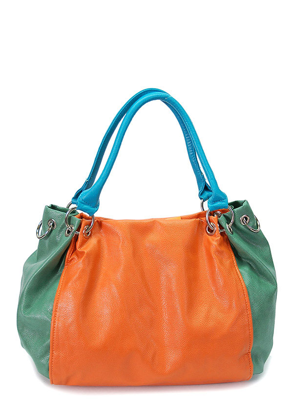 COLOR BLOCK FASHION HANDBAGS - orangeshine.com