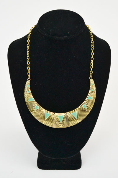 GOLD STATEMENT NECKLACE - orangeshine.com
