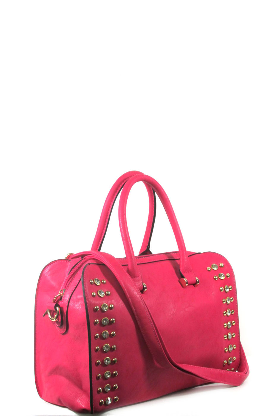 rhinestone satchel bag - orangeshine.com