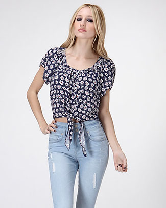 Sweet Daisy Crop Top - orangeshine.com