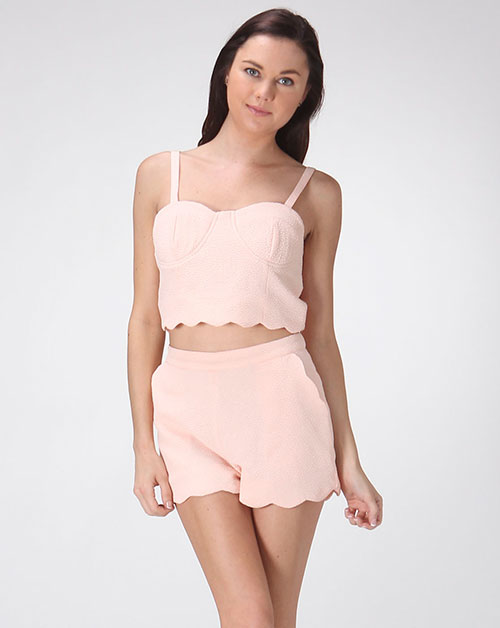 SCALLOPED CROP TOP - orangeshine.com
