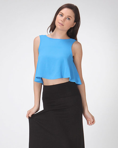 SLEEVELESS CROP TOP W/ BIG RIBBON - orangeshine.com