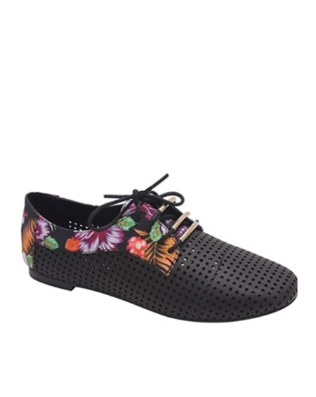 CUT OUT LACED FLOWERED OXFORDS - orangeshine.com