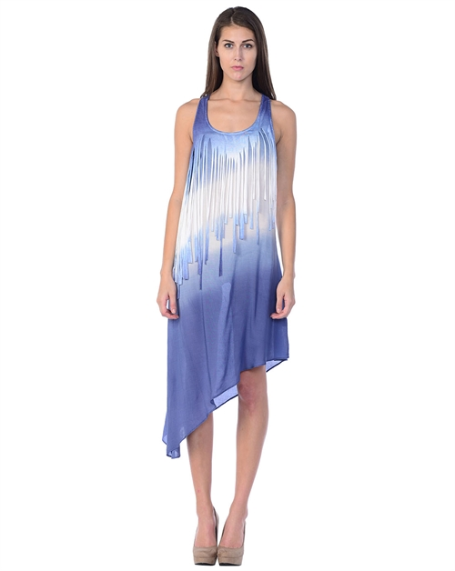 DIP DYE FRINGE DRESS - orangeshine.com