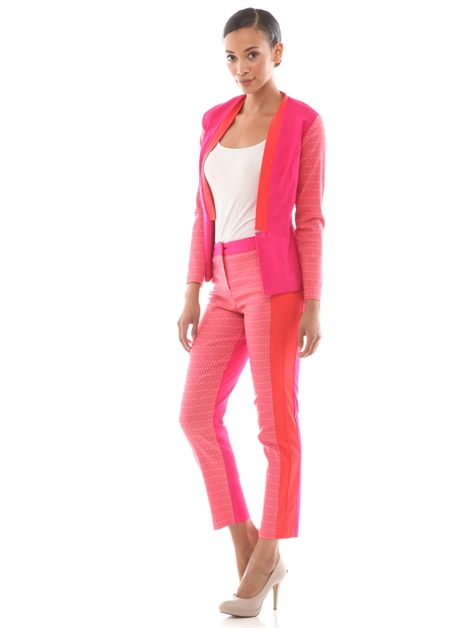 COLORBLOCK PANTS SUIT - orangeshine.com