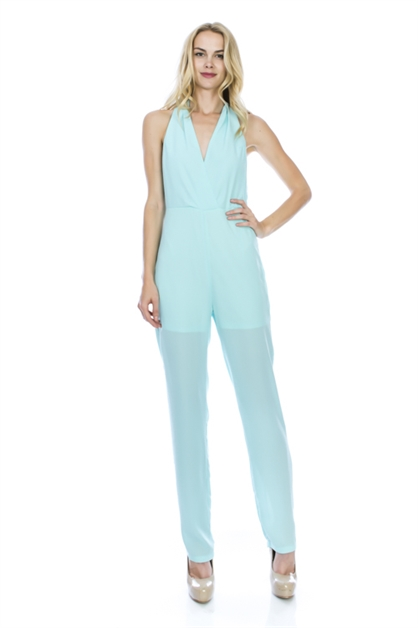 HOLTER NECK JUMPSUIT - orangeshine.com