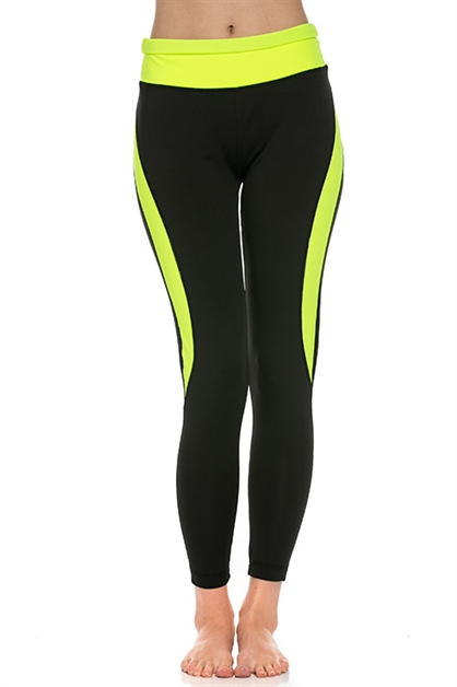 Neon yoga  pants - orangeshine.com