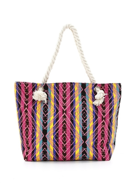 tribal print canvas tote - orangeshine.com