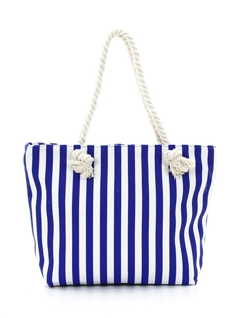 stripe canvas tote - orangeshine.com