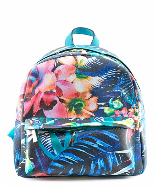 Floral Print Backpack - orangeshine.com