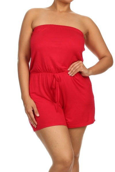 Romper with drawstring waist - orangeshine.com