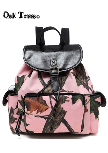 PINK LEAVES BACKPACK - orangeshine.com