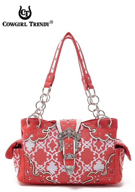 QUATREFOIL BUCKLE SATCHEL BAG - orangeshine.com