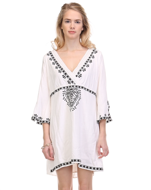 embroidered shift dress with - orangeshine.com