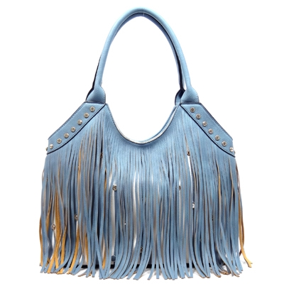 Fringe Stripe Shoulder Bag - orangeshine.com