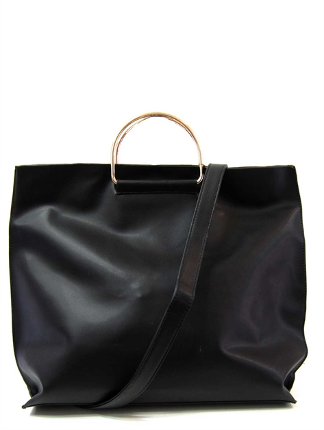 Metal Top Handle Handbag - orangeshine.com