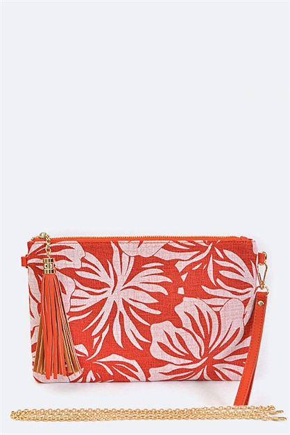 Print Canvas Clutch - orangeshine.com