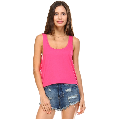 Boxy Crop Tank Top Tops - orangeshine.com