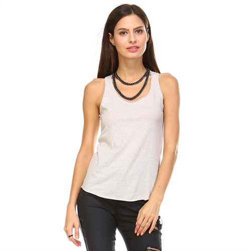 Melange Tank Top Tops - orangeshine.com